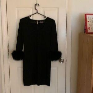 Calvin Klein black evening dress